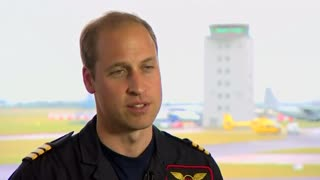 Prince William begins new job as air ambulance helicopter pilot. - Video