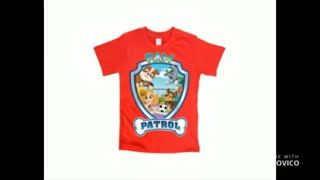 Boys Kids Black Paw Patrol T Shirts - Video