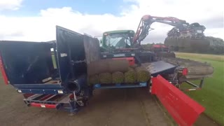 Modern Machine - Automatic Sod Harvester, Automatic Slabbing Sod Harvester - Video