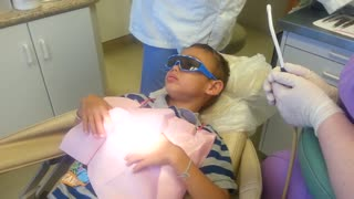 Boy goes to the dentist for his 13th filling - Video
