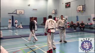 Isle of Arran Tae Kwon Do Sparring, Elite Scotland competition ITF - Video