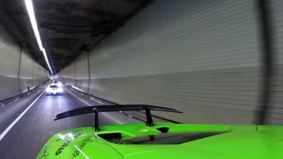 Lamborghini & supercar drivers get excited for special tunnel