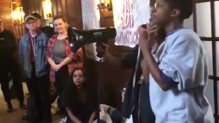 Sarah Lawrence College students protesting