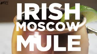 Irish Moscow Mule, Liquid Gold in a Copper Cup - Video