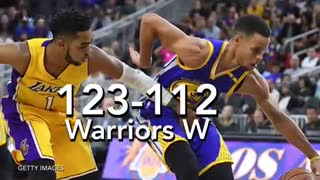 Steph Curry Gets Crossed Up By D'Angelo Russell - Video