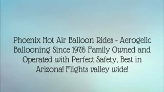 hot air balloon ride arizona - Video