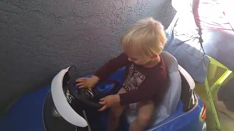 Tiny Toddler Gets Power Wheels Case Of Road Rage