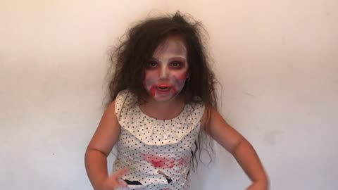 Little Girl Does The Zombie Dance