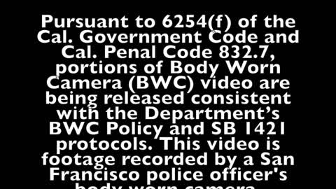 San Francisco PD releases footage of officer-involved shooting that led to charges against officer