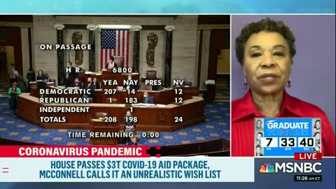 Rep. Barbara Lee: Trump, McConnell Saying Dems $3 Trillion Relief Bill Is DOA Is 'Disgusting