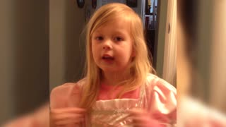 Little Girl Makes Adorable Confession - Video