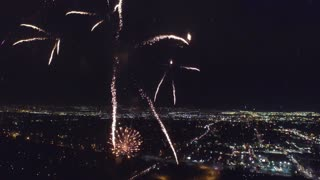 Amazing drone footage of fireworks display