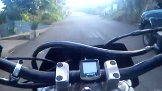 Riding with Yamaha DT125R Madeira Island - Video