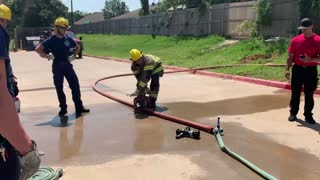 Fire Academy Hose Day Training