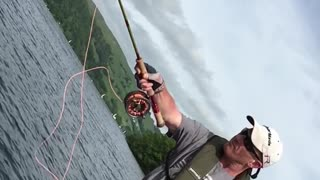 Pike Fly Fishing SLOW MOTION