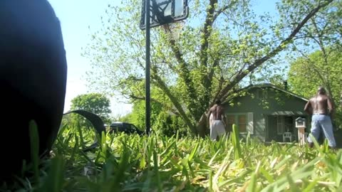 Mormon Missionaries Playing Street Ball