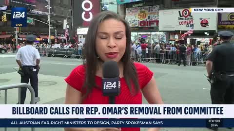 i24 report on Ilhan Omar protest