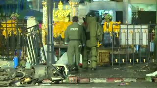 Video shows aftermath of Bangkok bomb blast