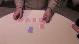 A Magician Predicts Which Card Will Be Chosen  - Video