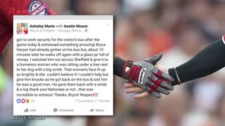 Bryce Harper Tells Ump To F*ck Off, Gives Jar of Money to Homeless Woman - Video