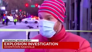 Was there a gun battle before the Nashville Christmas explosion?