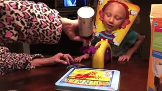 Mom and Daughter Play Pie Face