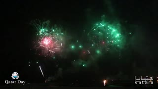 A Spectacular firework display dazzled and delighted this year's Eid Al Adha Celebration In Qatar - Video