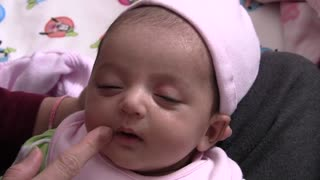 A beautiful baby Riya with cute facial expression