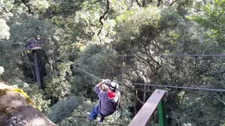 Zip Lining In Tsitsikamma Forest - Video