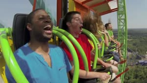 Six Flags debuts tallest drop ride in the world - Video