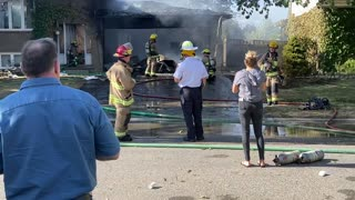 Both Dogs Saved From Garage Fire