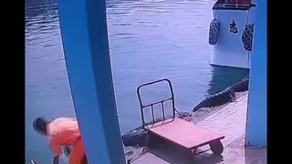 OAP On Scooter Accidentally Plunges Into Sea