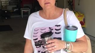 Husband Howls In HYSTERICS After Wife Can't Find Her Purse - Video