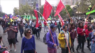 Protest against Private Pension System in Chile