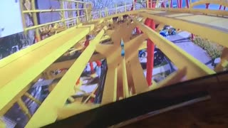Kiddo's Enjoy Simulated Roller Coaster Ride