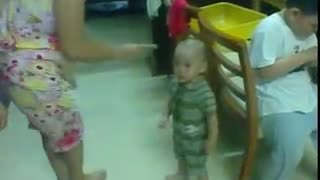Emotional baby! Too cute!  - Video