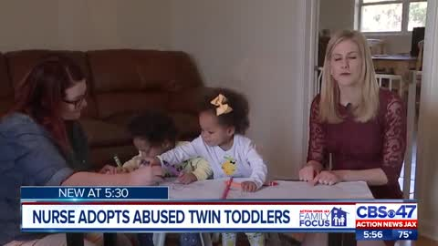 Florida Nurse Adopts Abused Twins