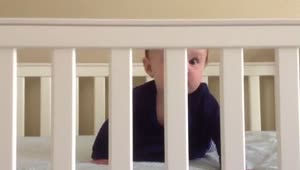 Baby's priceless reaction while playing peekaboo - Video
