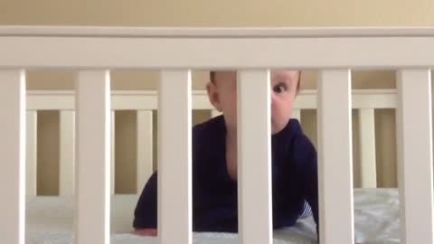 Baby's priceless reaction while playing peekaboo