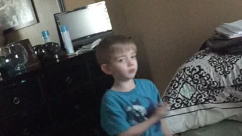 Boy hits head when dancing