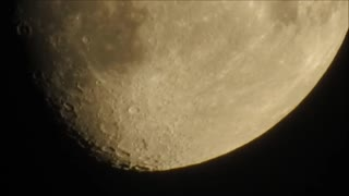 Extreme closeup of the moon is slightly disturbing  - Video