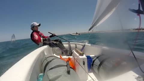 Talented kid destined to be sailing pro