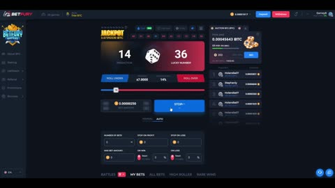 Bet Fury - Playing Dice On 7 Percent Win Chance