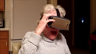 Grandma Is Not A Fan Of The VR Roller Coaster