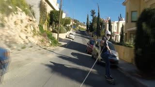Longboard skitching in beautiful Cyprus - Video