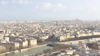 A great view from the Eiffel Tower