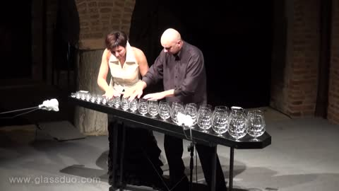 GlassDuo's Incredible Tchaikovsky Melody Made Completely From Empty Wine Glasses