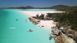 Whitehaven Beach, Hill Inlet, Queensland Australia, Drone Footage