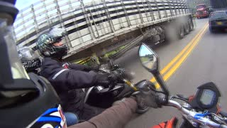 Motorcycle Races Cyclist - Video