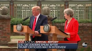 Trump refuses question from CNN's Jim Acosta at UK press conference - Video